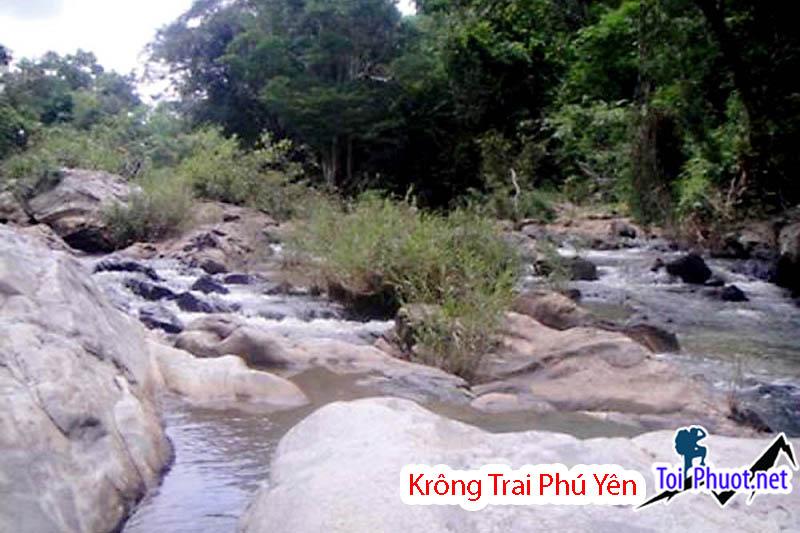 Cảnh quan ở khu bảo tồn thiên nhiên Krông Trai
